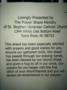 Shawl prayer